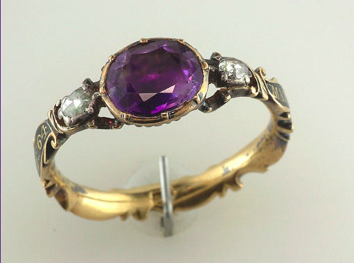 Amethyst Ring Mary Wooley OB: 8 April 1765 AE: 64