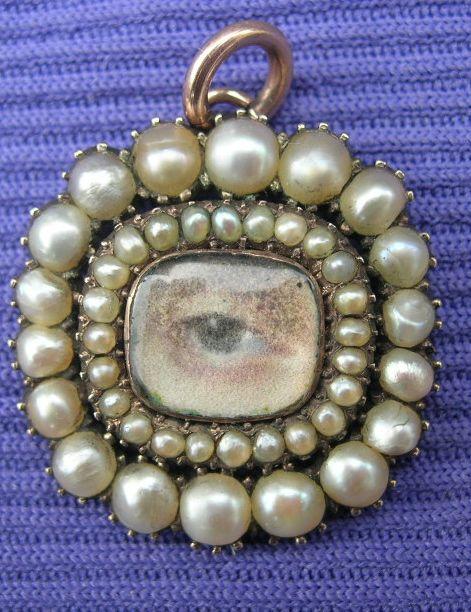 1815 Georgian Eye Miniature Pearl
