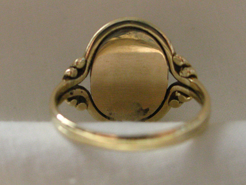 Urn Willow Onyx Mourning Ring
