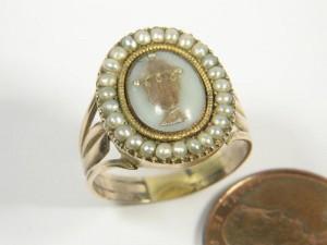 Neoclassical Hair Urn Ring