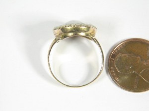 Neoclassical Hair Urn Ring