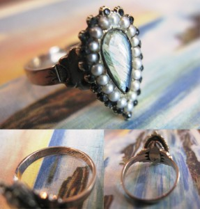 Erica Weiner Mourning Ring, M.L.D, Dec. 25, '93 Christmas