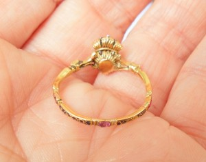 French Heart and Crown Ring, 18th Century