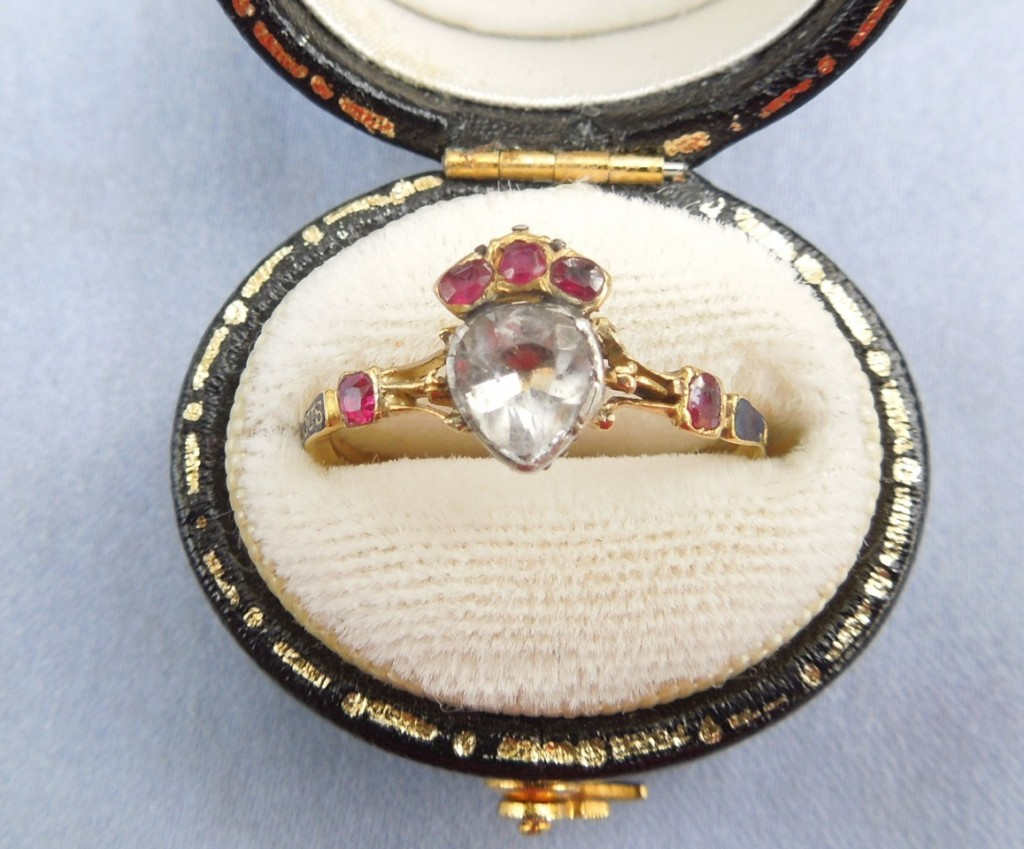 French heart and hand ring