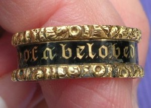 In Memory of a Beloved Child Gothic Revival Ring