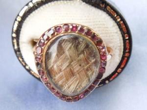 main garnet hair ring