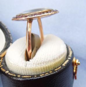 side of garnet ring