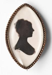 19th century silhouette brooch