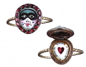 French carnival ring 18th century