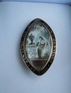 Parting with Grief Mourning Brooch