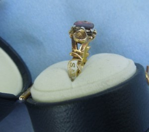 Sarah Nicholls, ob 27th Feb, 1755, AE 69 White Enamel Mourning Ring