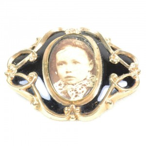 Black Enamel Mourning Brooch Photograph