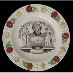 Caroline of Ansbach Mourning Plate