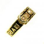 In Memoriam TOMMY 15ct Gold, Split Pearl, Enamel. Date 1881.