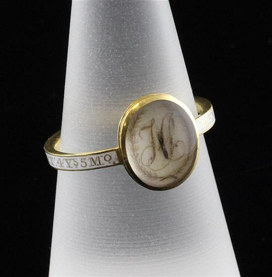 Henry Smith White Enamel Georgian Mourning Ring