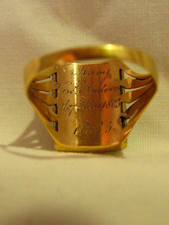 mary viscount andover ring 1803 Diamond Urn Early 19th Century