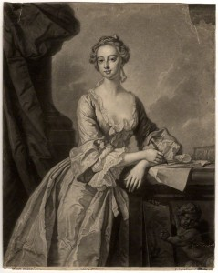 Mary Howard (née Finch), Viscountess Andover by John Faber Jr, after  Thomas Hudson