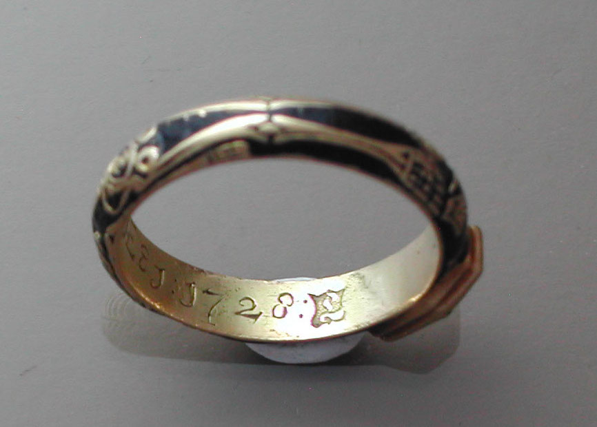 1728 Skeletal Coffin Ring