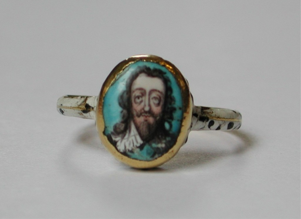 Skeleton Charles I ring