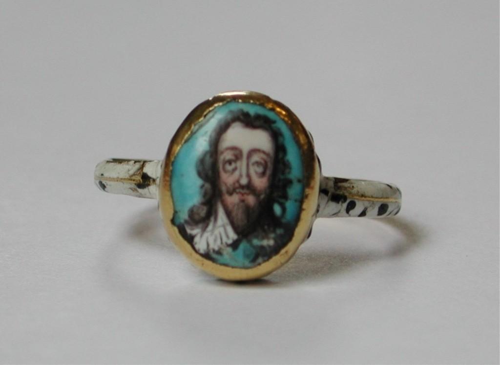 Skeleton Charles I ring