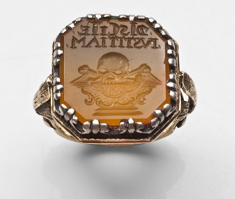 Intaglio French Memento Mori Ring