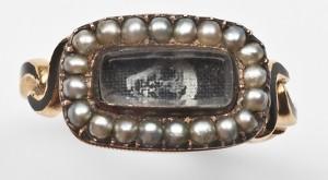 Skull Hairwork Ring Early 19th Century