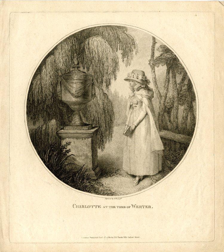 Charlotte at the Tomb of Werter, 1783
