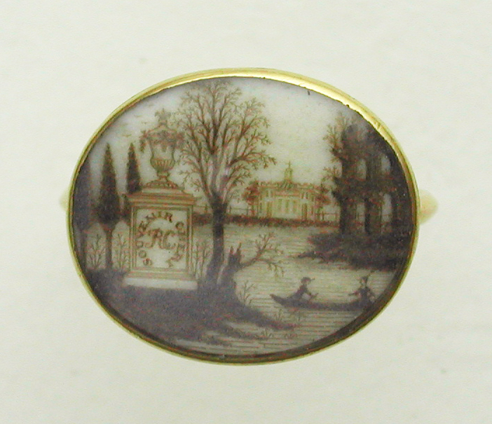 Rosamund Chapman Classical Mourning Ring 1768 / Age 59