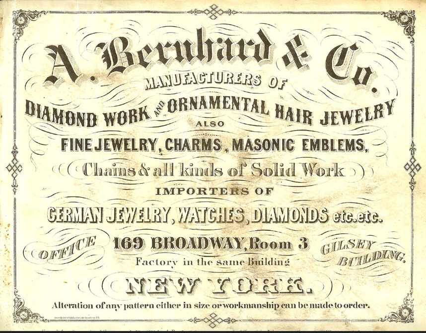 A Bernhard & Co. Advertisement