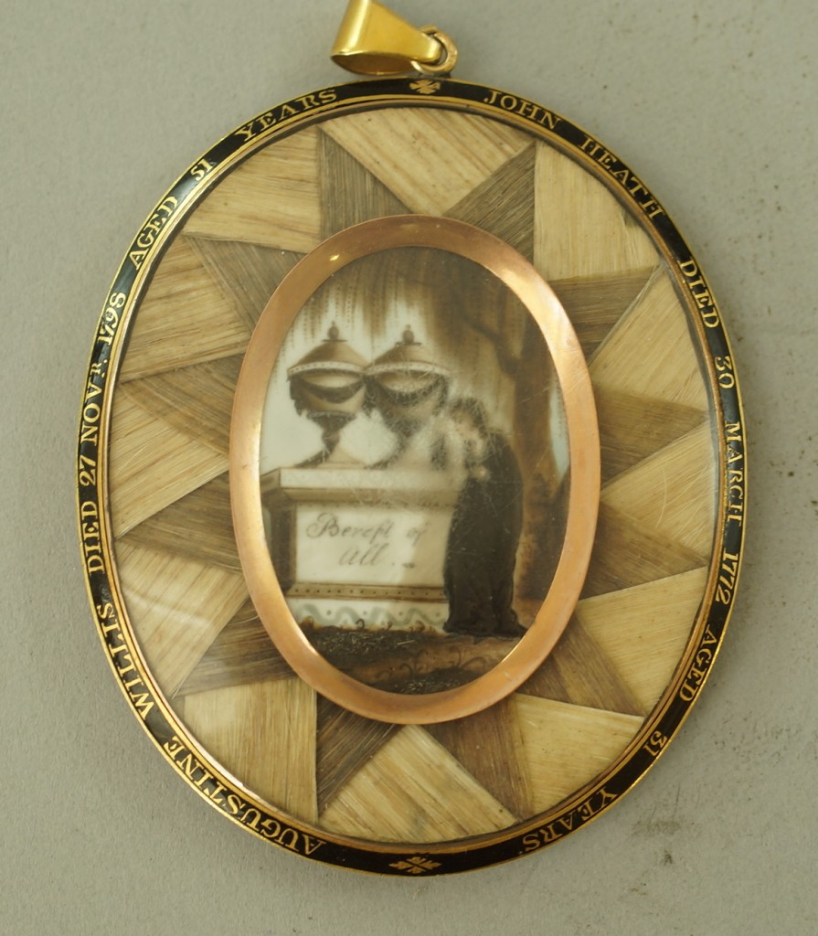 Bereft of All, 1798 Mourning Pendant