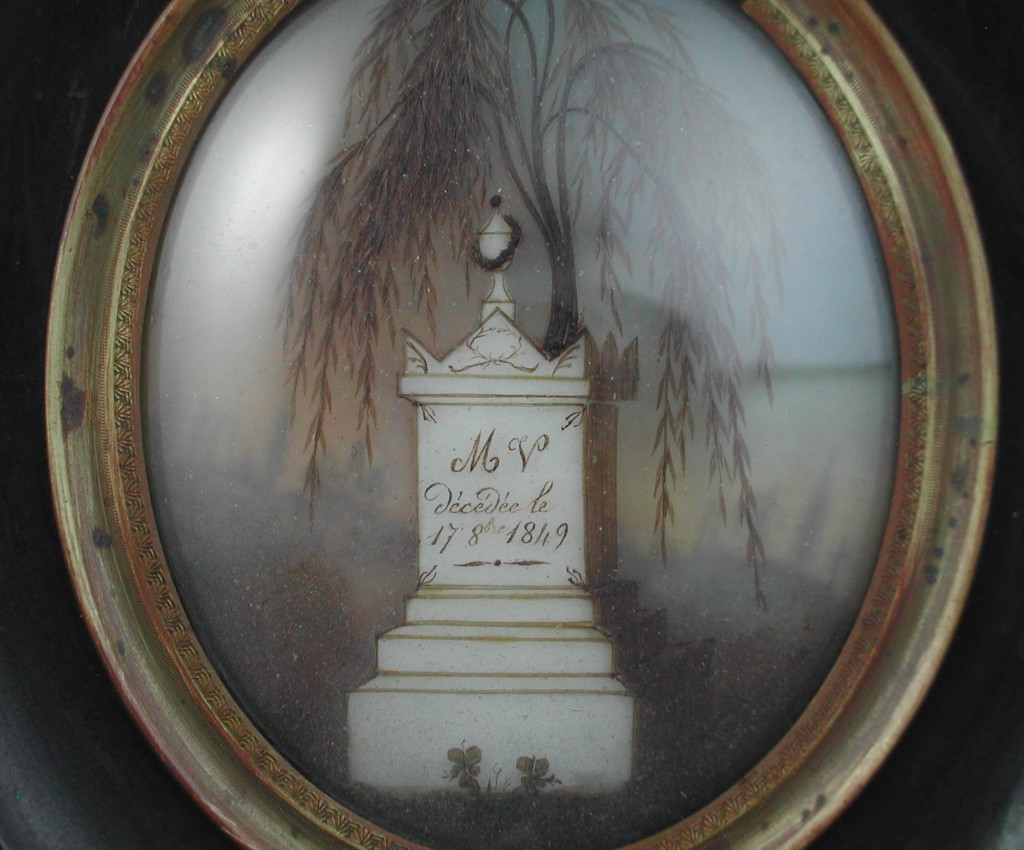 French Hair Tomb Willow Mourning Art from the 19th Century