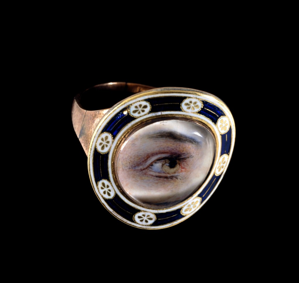 Mary Dean Obt 27 Augt 1794 AEt.73. eye portrait ring mourning