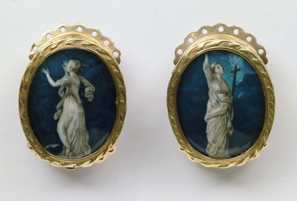 Sir Joshua Reynolds faith and hope bracelet clasps, 1775-1800