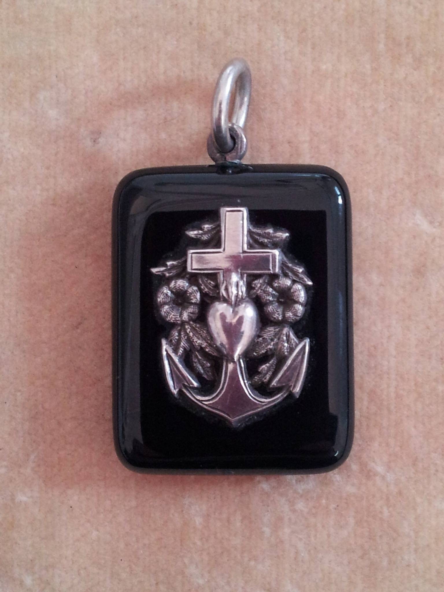 Faith hope and charity art of mourning silver faith hope and charity pendant c1890 biocorpaavc Images