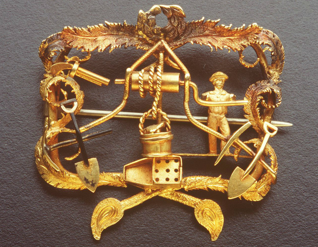 Goldfields brooch commissioned by Edward Austin, c.1855
