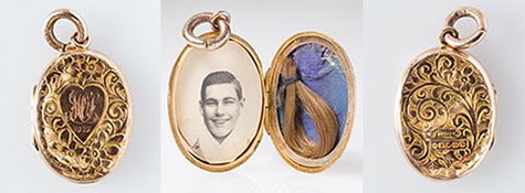 Locket worn by Winnie/Maurice Sullivan for Les Darcy
