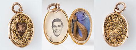 Locket worn by Winnie/Maurice Sullivan for Les Darcy