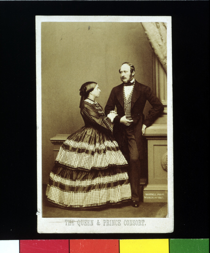 Victoria and Albert, 1860. Hand-coloured albumen print from wet collodion on glass negative