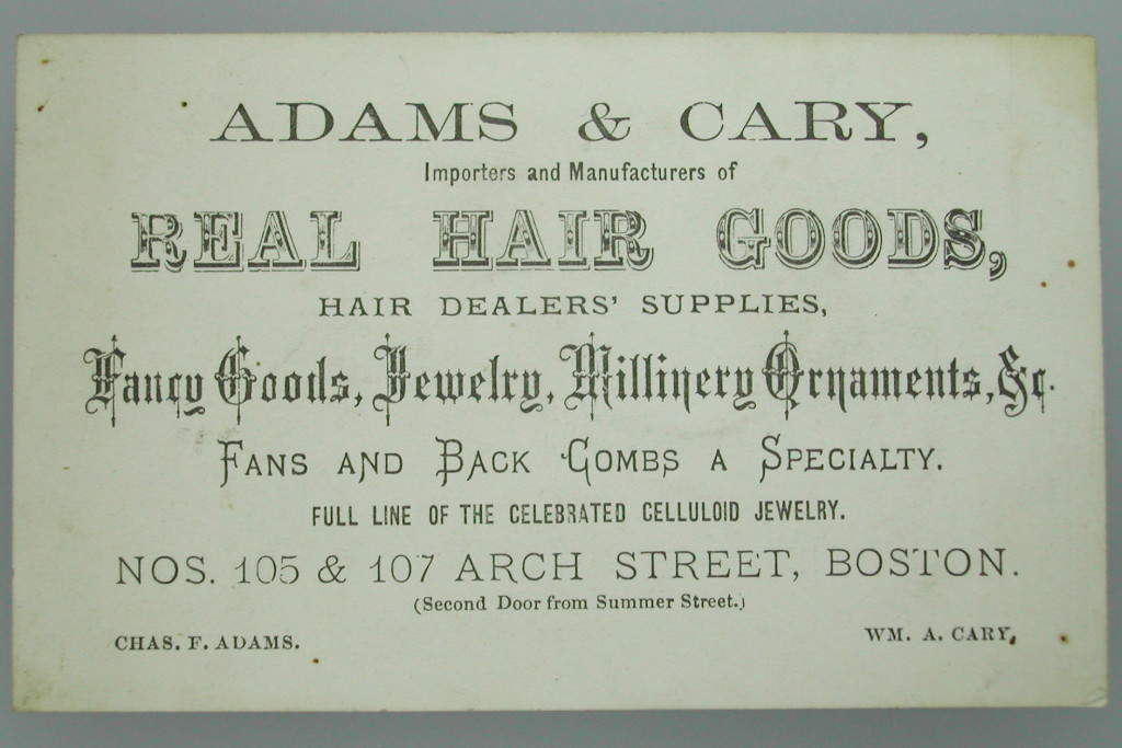 Adams & Carey, importers and manufactures of real hair goods, Boston