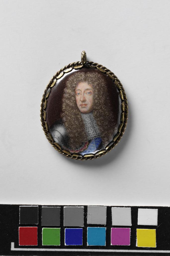 James II, enamel on metal, c.1685