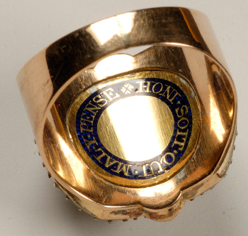 Ring with cameos of George II and Queen Caroline