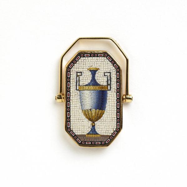 Micromosaic mourning ring, c1800