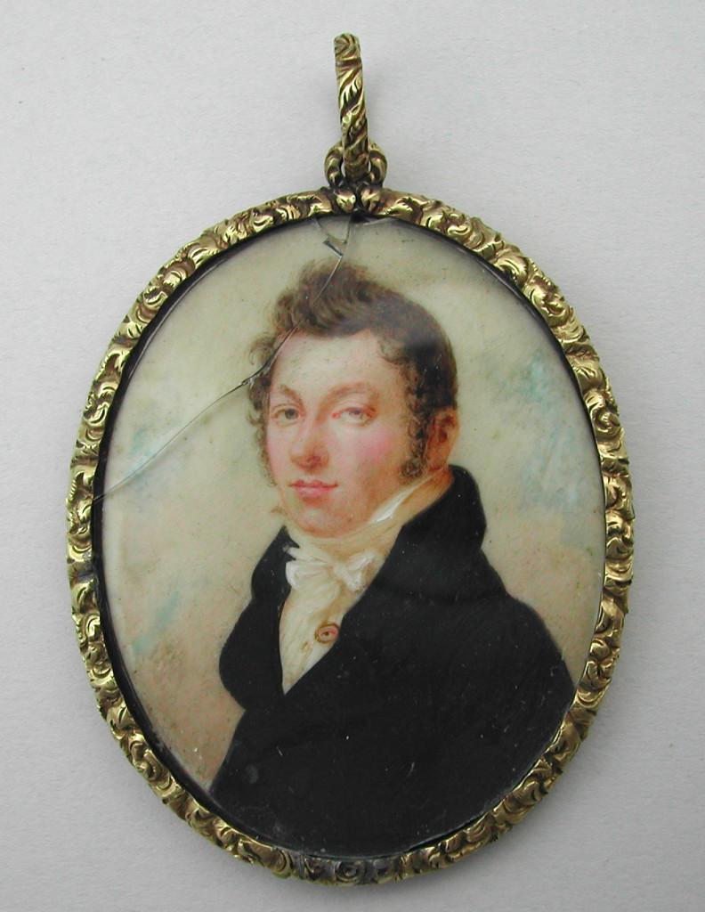 Gentleman wearing eye miniature