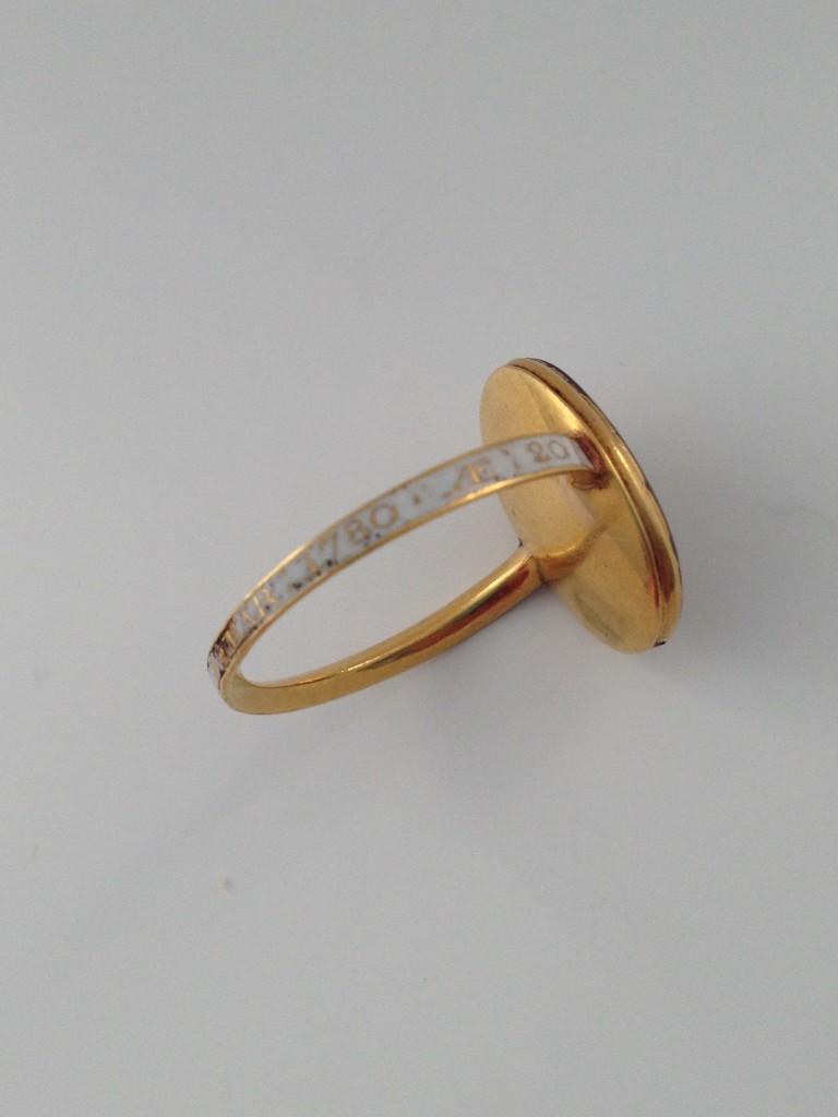 Skull ring - Ann Stannway OB: 8 Mar 1780 AE:20