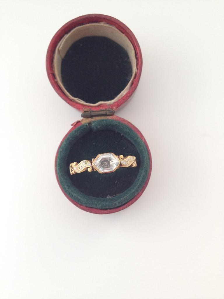 White enamel skull rococo ring - Char Pomfrett OB:16 July 1752 AE 20