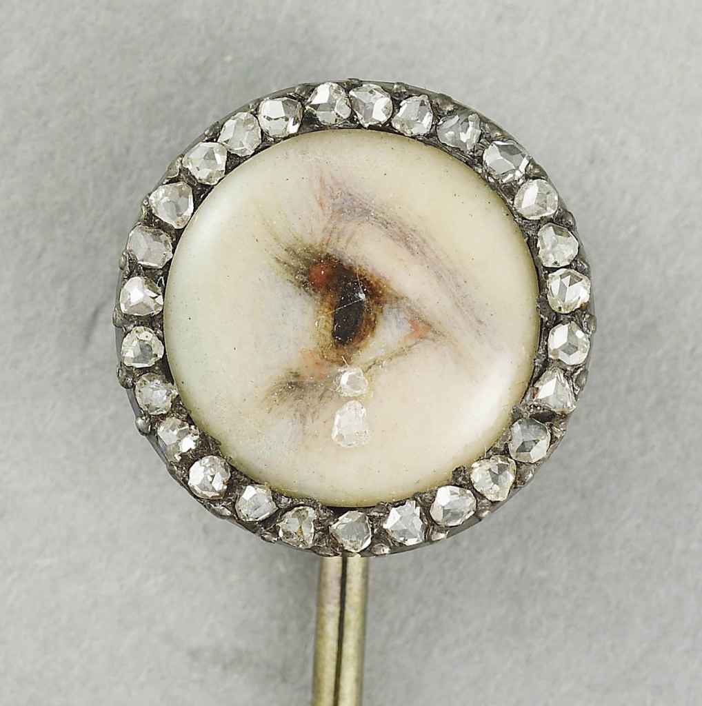 Tiepin with a miniature of a lady's eye, 1900-10