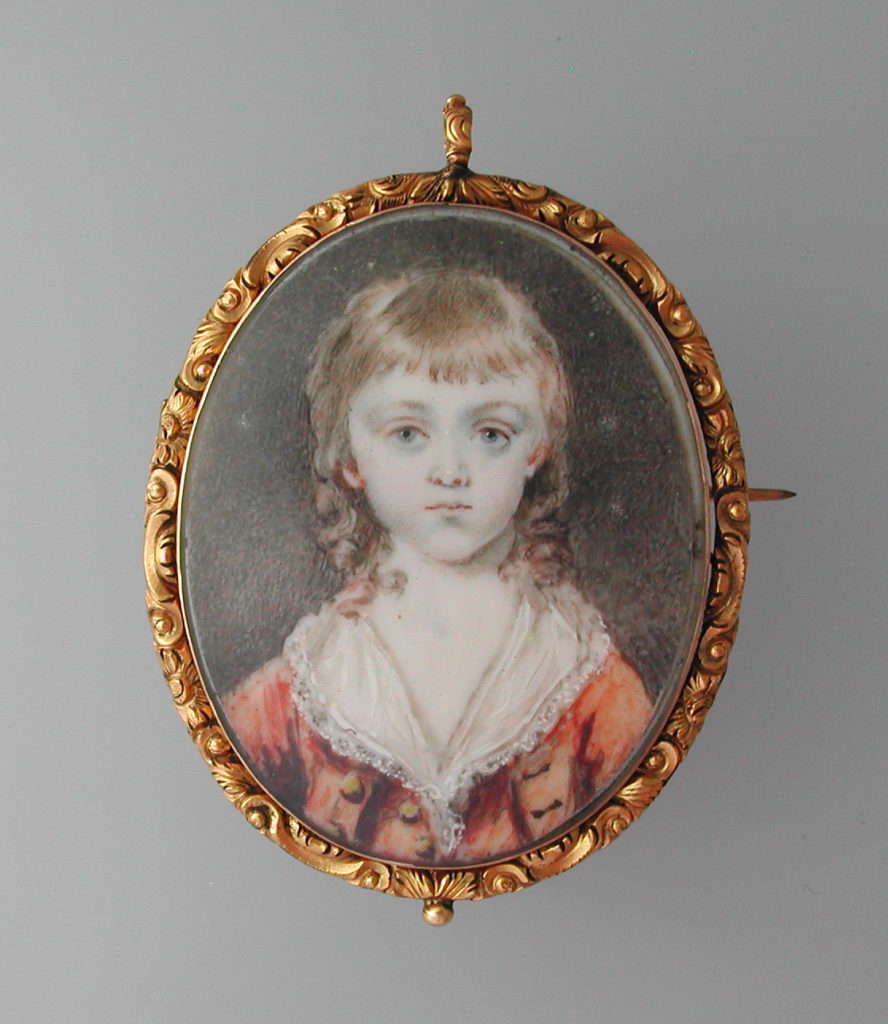 Mourning miniature for a child.