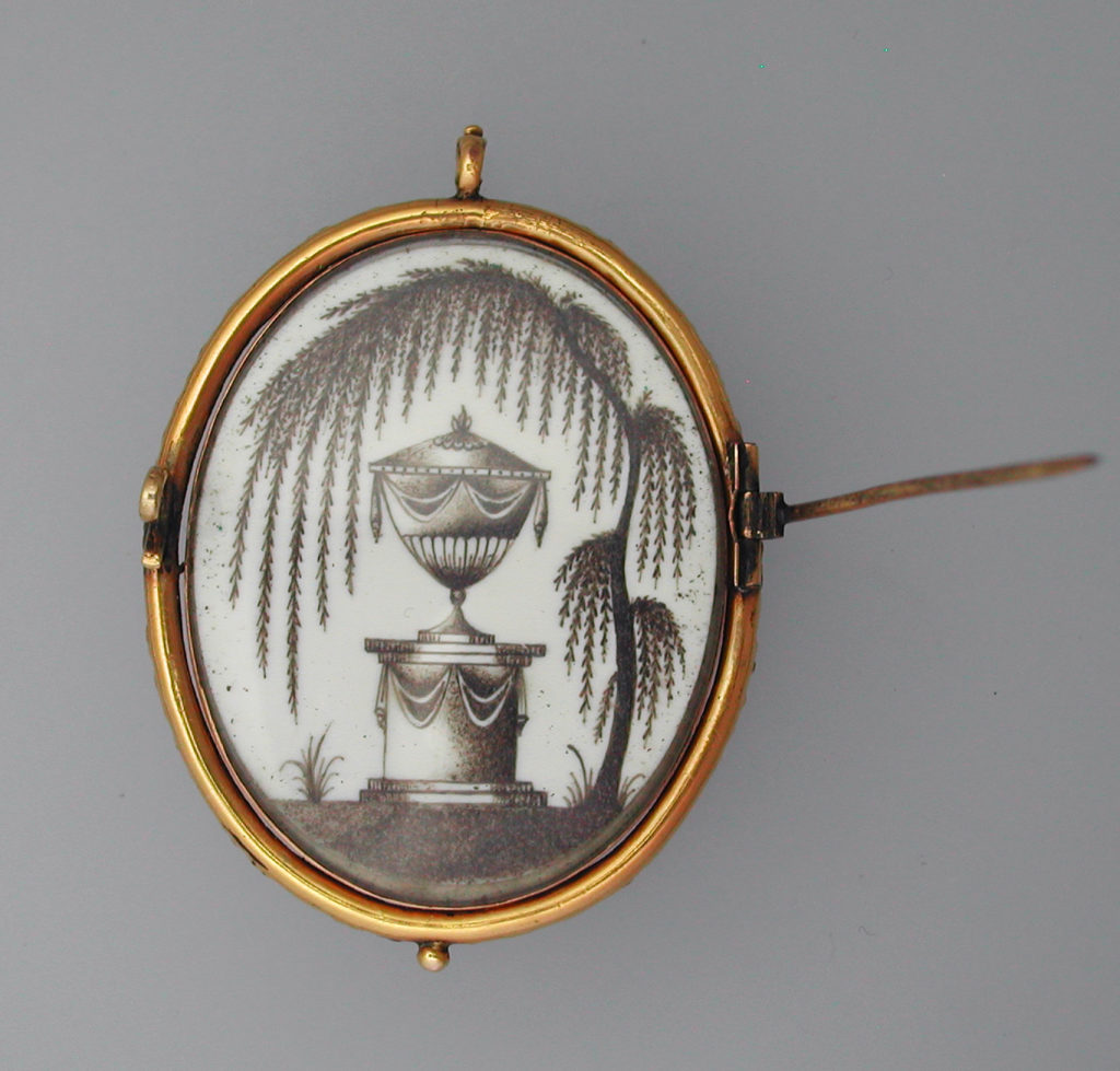 Reverse of a mourning miniature for a child.