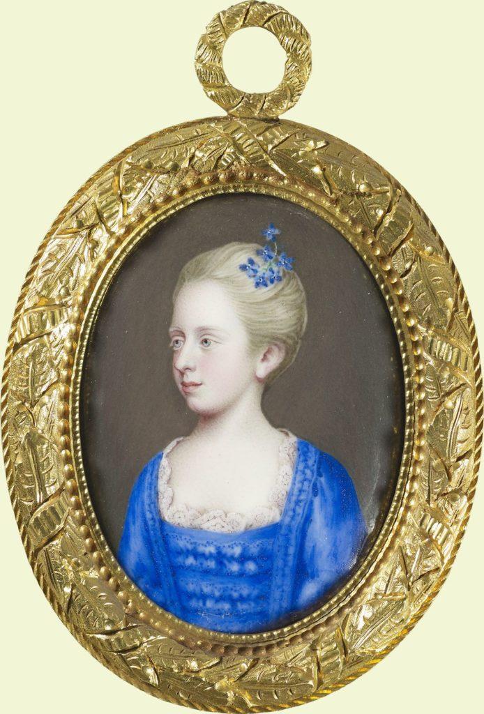 Miniature attributed to Francis Sykes (active 1750); Princess Elizabeth Caroline (1740-1759)