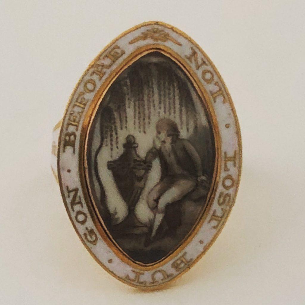 White Enamel Mourning Ring for Wm Benham ob 30 Apr 1796 aet 23